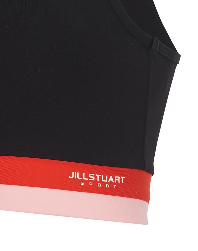 질스튜어트 스포츠 뉴욕(JILLSTUART SPORT NEWYORK) [Solid Gymkini TOP] 블랙 여성 솔리드 짐키니 수영복 상의 JFSR9B432BK