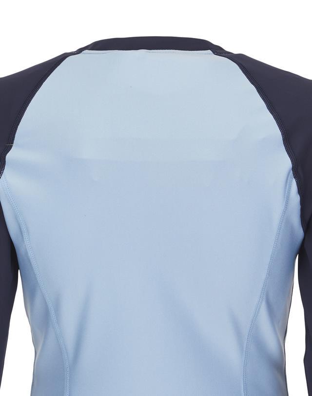 질스튜어트 스포츠 뉴욕(JILLSTUART SPORT NEWYORK) [Chic Gymkini JK] 블루 컬러배색 여성 집업래쉬가드 JFSR9B434B4