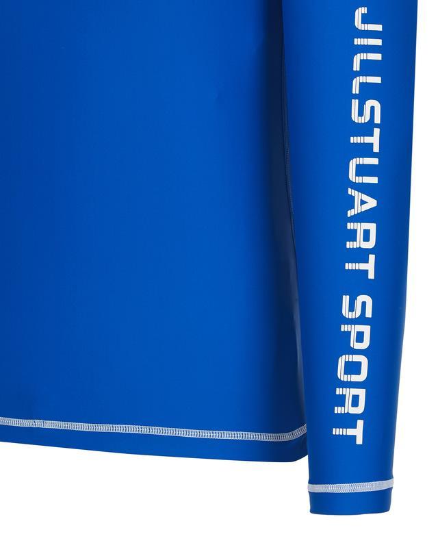질스튜어트 스포츠 뉴욕(JILLSTUART SPORT NEWYORK) [Long Beach High-neck Rashguard] 블루 남성 솔리드 레터링 하이넥 래쉬가드 JMSR9B413B2