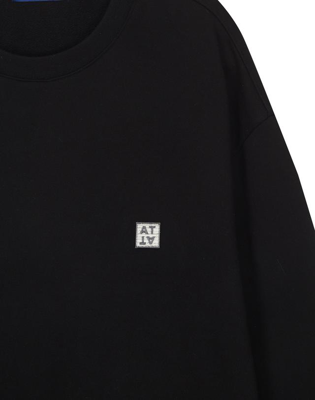 티엔지티(TNGT) [BLACK] 레인보우 와펜 세미오버 포켓 맨투맨 TGTS9A701BK