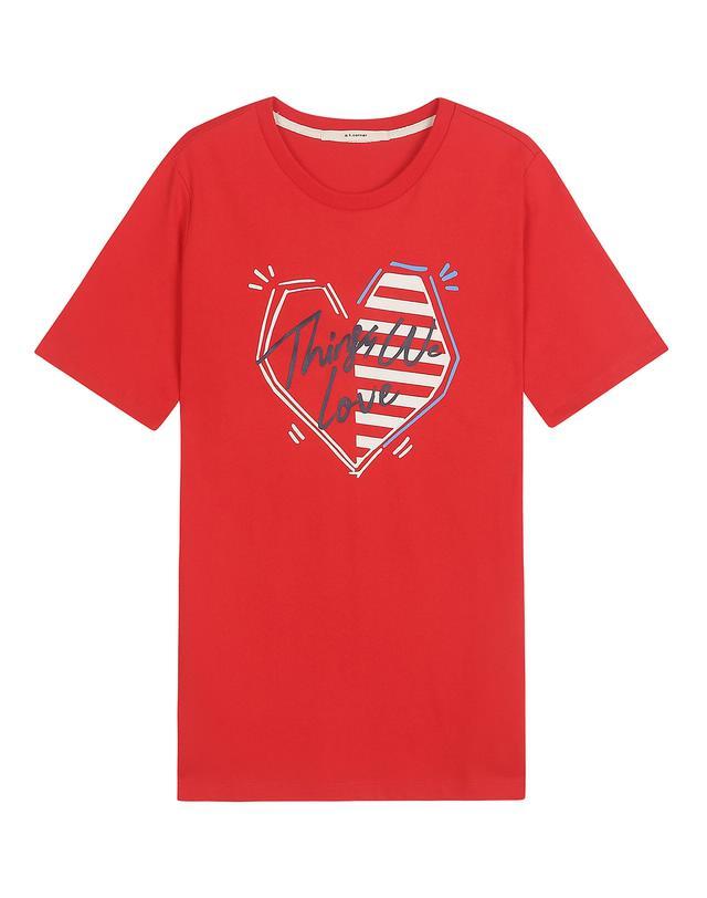 레드 면 Things We Love 프린팅 티셔츠