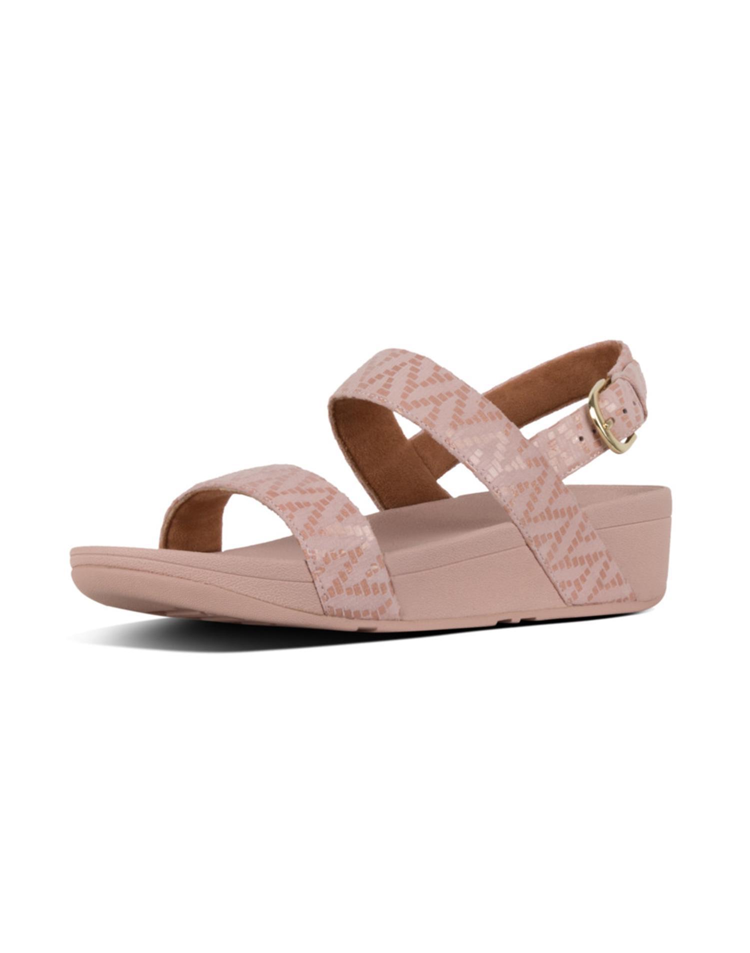 [로티쉐브론샌들] 핑크 스웨이드 여성