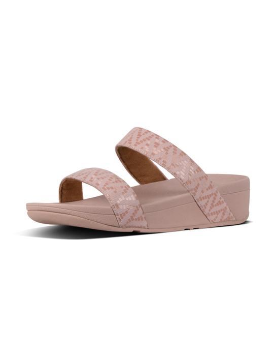 [로티쉐브론슬라이드] 핑크 스웨이드 여성