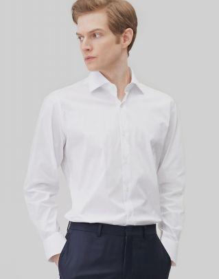 [세상편한셔츠 #2] 스트레치 화이트 면혼방 긴팔드레스셔츠