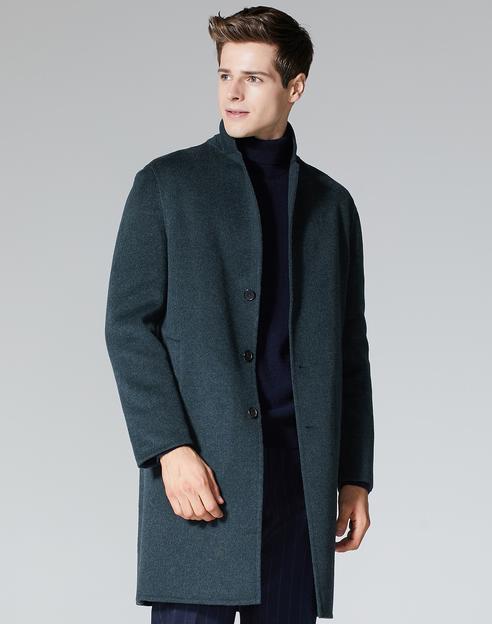 [온라인단독]그린 울캐시미어 핸드메이드 코트