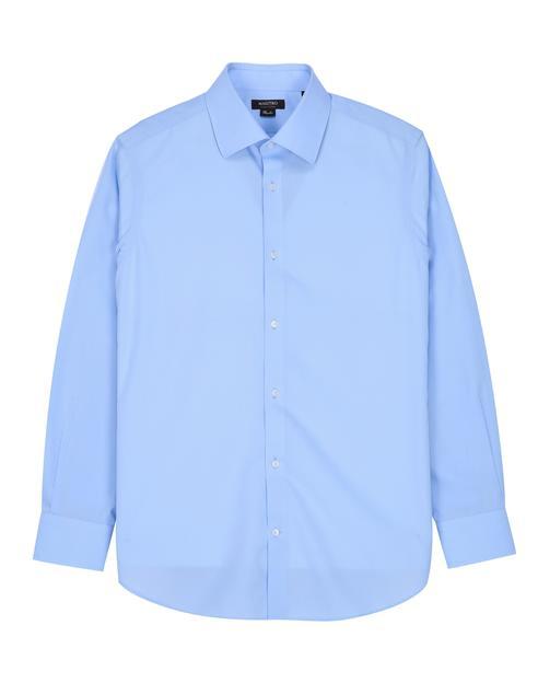 [세상편한셔츠] IRON-FREE 긴팔 솔리드 블루셔츠