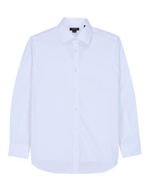 [세상편한셔츠] 구김방지 긴팔 솔리드 화이트 면셔츠