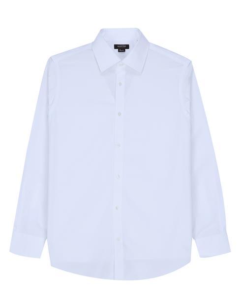 [세상편한셔츠 #1] IRON-FREE 긴팔 솔리드 화이트 면셔츠