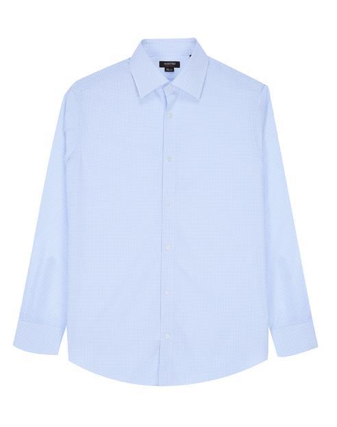 [세상편한셔츠 #1] IRON-FREE 긴팔 블루 체크 면셔츠