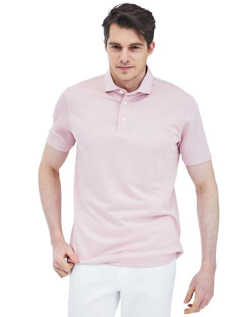 핑크 솔리드 반팔카라티셔츠