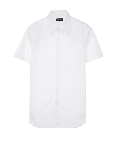 화이트 단색 반팔드레스셔츠