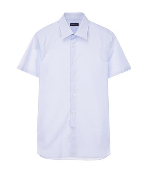 [iron-free]라이트블루 잔체크 반팔셔츠
