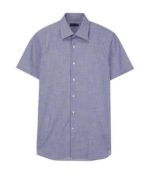 라이트블루 하운드투스 반팔캐주얼셔츠