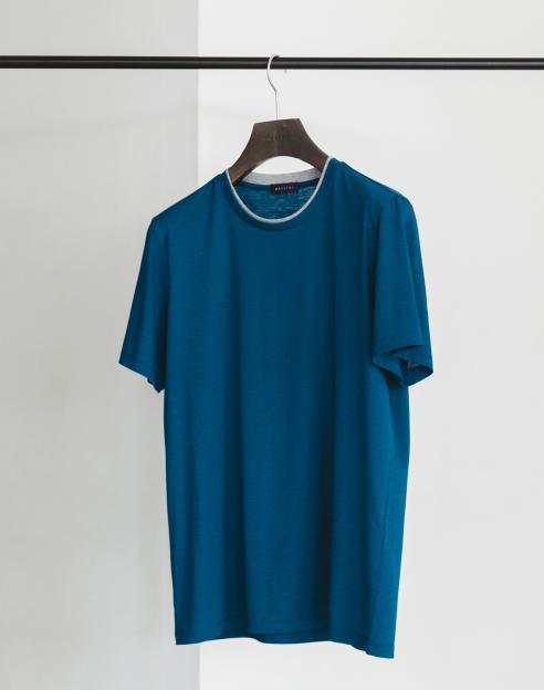 [워셔블]쿨 실키라이크 라운드넥 폴리 티셔츠