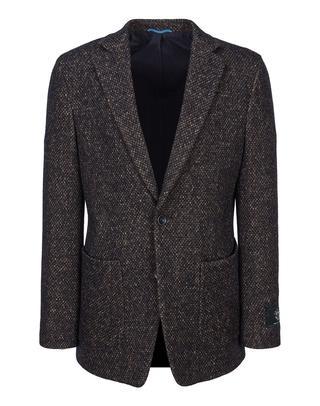 브라운 트위드 면혼방 캐주얼자켓