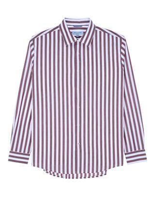 레드 스트라이프 면 긴팔캐주얼셔츠