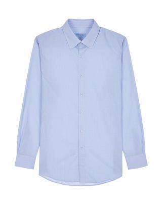 블루 다운카라 면 긴팔캐주얼셔츠
