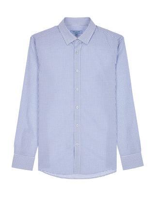 블루 버튼다운카라 면 긴팔캐주얼셔츠