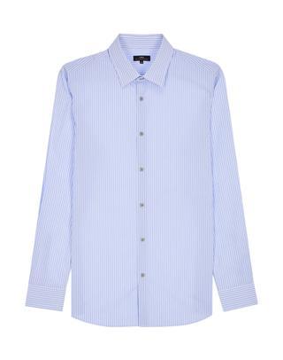 [박보검 착용]블루 스트라이프 면혼방 긴팔캐주얼셔츠
