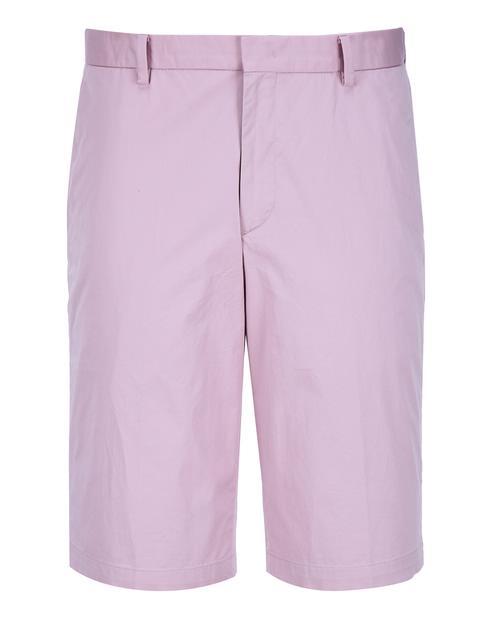 핑크 단색 면혼방 하프팬츠