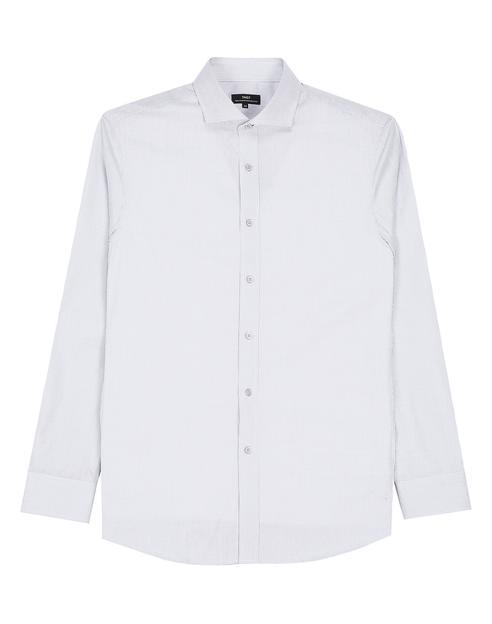 그레이 체크 면 긴팔캐주얼셔츠
