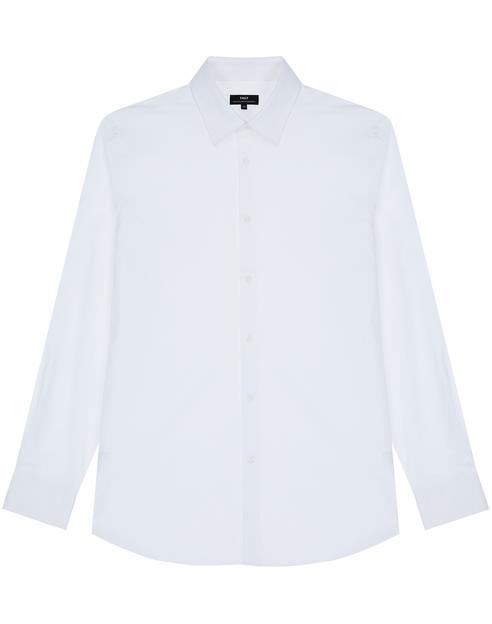 화이트 면혼방 긴팔드레스셔츠
