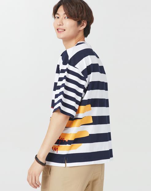 [삼양라면 X TNGT]화이트 자수 면 반팔티셔츠